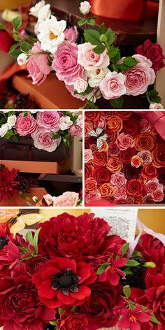 Beautiful clay floral arrangements!
