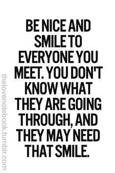A smile.