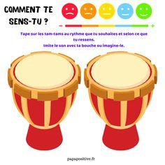 Tam-tam émotions : un outil pour transformer les émotions en musique ! Transformers, Instruments, Yoga, Drums, The Emotions, Gaming, Musical Instruments, Tools