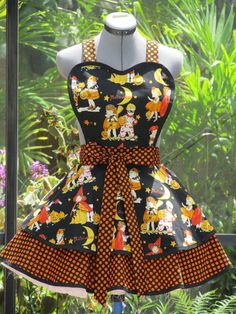 FREE PRIORITY Shipping  Sale  Halloween Double Flounce Apron