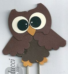 Stampin' Up Owl Punch Art Bookmark