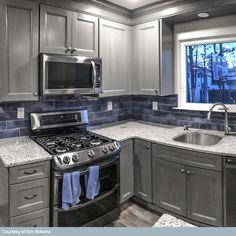 Kitchen Redo, Home Decor Kitchen, Home Kitchens, Kitchen Tiles, Remodeled Kitchens, Kitchen Cabinet Makeovers, Small Kitchen Makeovers, Soapstone Kitchen, Small Kitchen Layouts