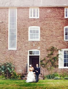 An Autumn Wedding in the English Countryside. Love the dramatic height of this photo.