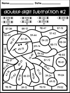 Ocean Animal Color by Code- Two Digit Addition and Subtraction NO Regrouping – Animals Center Math Coloring Worksheets, School Worksheets, Subtraction Activities, Math Activities, Camping Activities, Writing Prompts For Kids, Kids Writing, Singapore Math, Second Grade Math