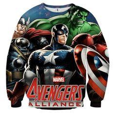 Avengers Comic Version 3D Printed Avengers Sweatshirt