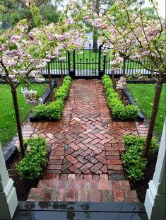 Courtyard Landscaping, Small Backyard Landscaping, Landscaping Ideas, Backyard Ideas, Garden Ideas, Patio Ideas, Mulch Landscaping, Easy Garden, Walkway Ideas