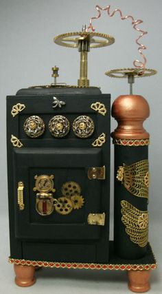 Steampunk Ice Box 112 Scale Dollhouse Miniature by debsminis, $85.95