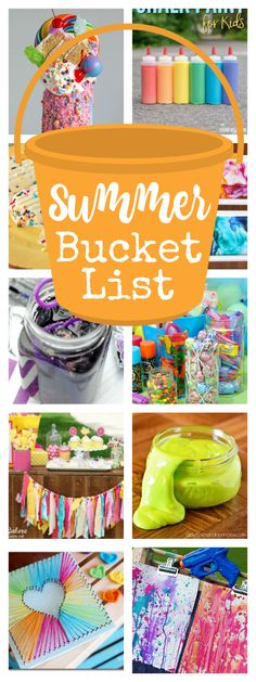 Summer Bucket List-25+ Fun Things to Do with Kids This Summer. Great summer activities for kids that will keep them happy and not bored! #summer #summerfun #kids #kidsactivities