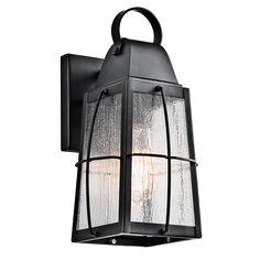 Tolerand 1 Light Outdoor Wall Light - Textured Black