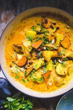 Roasted Root Veggie Curry / Sweet Potato, Potato and Turnip
