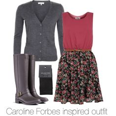 """""""Caroline Forbes inspired outfit/ The Vampire Diaries"""" by tvdsarahmichele on Polyvore"""