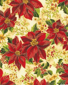 Holiday Flourish 8 - Poinsettia Gems - Cardinal Red/Gold