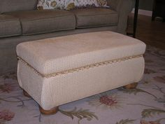 "Can't find the perfect ottoman?  Call on me...I'm ""The Solution""."