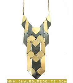 Multi-tone Metal Statement Necklace