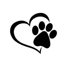 Cute Dog Paw with Love Heart Wall Stickers Cartoon Animal Adopt Dog Cat Love Pet Wall Decals for Bedroom Home Decor Tatoo Dog, Dog Tattoos, Wall Stickers Cartoon, Car Stickers, Decoration Stickers, Animal Nutrition, Love Pet, Dog Paws, Pet Health