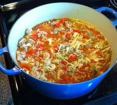 so easy to make and tastes goooood! *Lazy Cabbage Roll Soup Recipe*