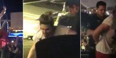 Luan Santana cai de plataforma durante show no Piauí...
