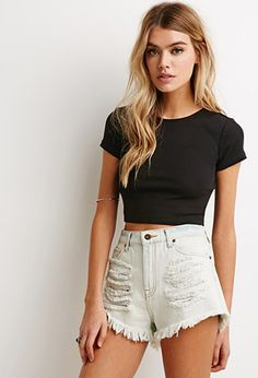 Ribbed Crop Tee | Forever 21 - 2000054141