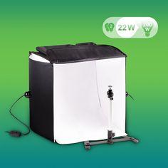 eSmart Germany portatile per studio fotografico-set   40 x 40 cm   Con foto tenda con luce supporto, un treppiede, due diversi motivi dietro, una borsa: Amazon.it: Elettronica