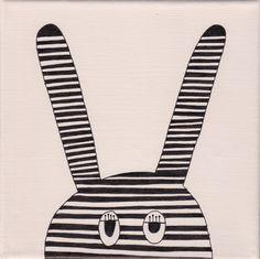 """bunny"", rosé, 20x20cm, € 36,- Bunny, Peace, Shopping, Drawing Rooms, Rabbits, Rabbit, Bunnies, World, Baby Bunnies"