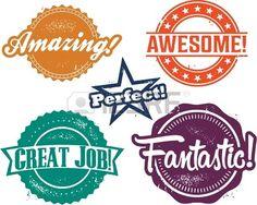 Sehr gut Job Recognition Briefmarken Lizenzfreie Bilder