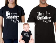 godmother shirt godfather shirt goddaughter onesie or