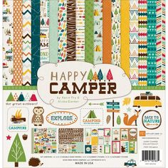 Scrapbooks by Design - Happy Camper Collection Kit 12 X 12, $13.99 (http://www.scrapbooksbydesign.ca/paper/paper-pads-and-packs/happy-camper-collection-kit-12-x-12/)