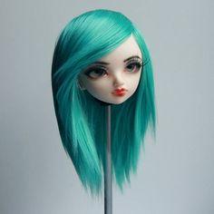 Minifee fairyland mnf wig turquoise blue green no bang