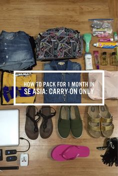 Pack For 1 Month in Southeast Asia: Carry-on Only How to fit one-month's worth of clothes, for Southeast Asia, in a carry on like a BOSS!How to fit one-month's worth of clothes, for Southeast Asia, in a carry on like a BOSS! Mission Trip Packing, Carry On Packing, Packing Tips, Travel Packing, Travel Backpack, Asia Travel, Travel Tips, Thailand Travel, Shopping Travel