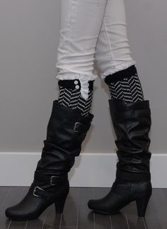 I love leg warmers with boots:)