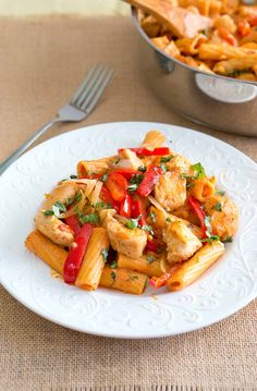 Spicy Chicken Riggies or Spicy chicken rigatoni is a hearty pasta dish…