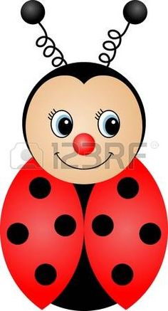 Ladybug Cartoon Stock Photos And Images Art Drawings For Kids, Drawing For Kids, Easy Drawings, Ladybug Crafts, Rock Painting Patterns, Cute Clipart, Applique Patterns, Rock Art, Doodle Art