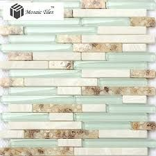 Image result for aqua glass backsplash