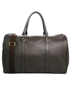 ASOS Smart Holdall In Brown Faux Leather