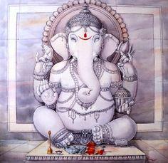 hinducosmos:  Lord Ganesha Artist: Manish Verma. acrylic on canvas  (via US-INDIA ART and CULTURE EXCHANGE CENTER )