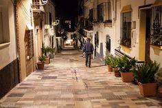 Street Bermeja in Old Town at night