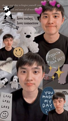 Kyungsoo, Kaisoo, Chanyeol, Exo Cartoon, Exo Music, Songsong Couple, Abstract Iphone Wallpaper, Exo Lockscreen, Life Hacks For School