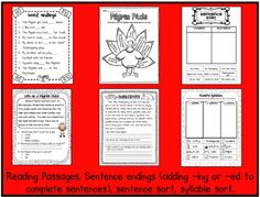 Thanksgiving worksheets and centers - Sarah's Teaching Snippets