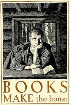 Bookplates.  Books Make the Home, Rockwell Kent, owned by the Cleveland Public Library Special Collections Department