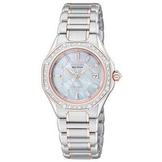 Ladies' Citizen Eco-Drive™ Signature Octavia Series Diamond and Mother-of-Pearl Watch (Model: EW2096-57D) - Citizen: The Signature Collection - Zales #safefortheholidays