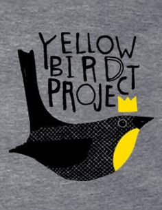 We are a Montreal-based organization called Yellow Bird Project. We work with an amazing range of indie rock musicians to create unique t-shirt designs that benefit an array of charities, each chosen by the musicians. Bird Illustration, Graphic Design Illustration, Unique T Shirt Design, T Art, Typographic Design, Logo Design Inspiration, Illustrations Posters, Printed Shirts, Shirt Designs
