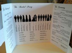 Wedding Program. $3.00, via Etsy.