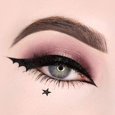 Eyeliner Tattoo: All You Need To Know – My hair and beauty Bat Makeup, Edgy Makeup, Halloween Eye Makeup, Eye Makeup Art, Gothic Makeup, Fantasy Makeup, Makeup Inspo, Eyeshadow Makeup, Makeup Inspiration