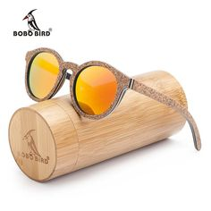 2c07b289470 BOBO BIRD New Handmade Cork-Look Wooden Womens Sun Glasses With Polarized  Lenses  sunglasses