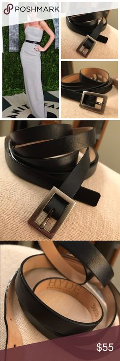 39d5eff575da Victoria Beckham Double Wrap Black Belt The Iconic belt Victoria Beckham is  spotted in! Genuine