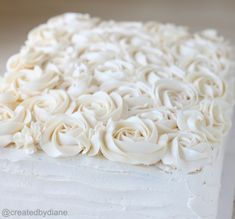 Vanilla Frosting RECIPE Silky Smooth and DELICIOUS #recipe #wedding #cake from @createdbydiane