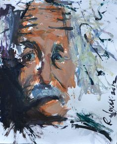 Abstract Representational Painting Of Albert Einstein
