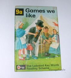 Vintage Ladybird Book  Games We Like 9a Key words scheme 1964