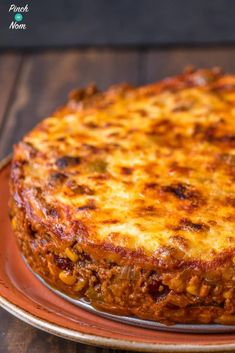 Enchilada Lasagne - Pinch Of Nom Slimming Recipes Slimming World Lasagne, Slimming World Curry, Slimming World Dinners, Slimming World Recipes Syn Free, Slimming Eats, Low Calorie Recipes, Healthy Recipes, Savoury Recipes, Savoury Bakes