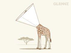 ITCHY T-Shirt - Giraffe T-Shirt